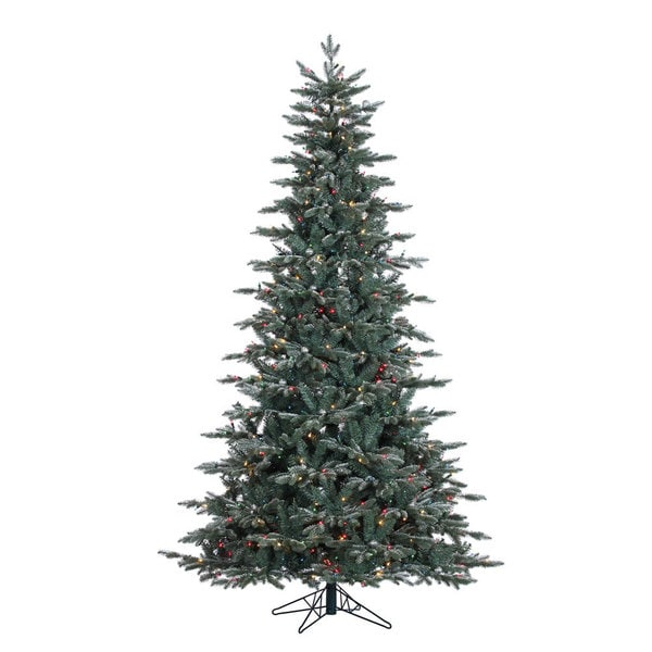 """7.5' x 54"""" Crystal Balsam Fir Tree with 750 Multi-Colored Dura-Lit Lights"""