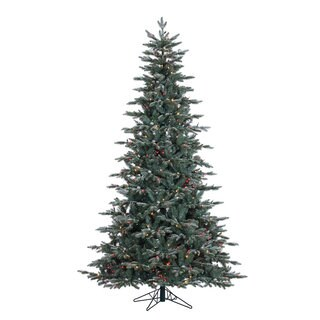 "7.5' x 54"" Crystal Balsam Fir Tree with 750 Multi-Colored Dura-Lit Lights"