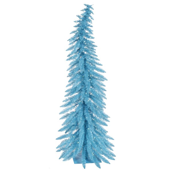 25 pre lit whimsical sky blue spruce artificial christmas tree blue - Blue Spruce Artificial Christmas Tree