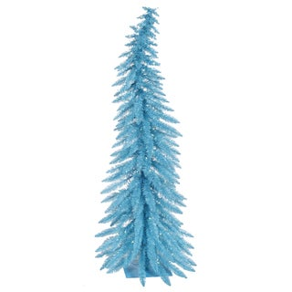 "30"" x 17"" Sky Blue Whimsical Tree with 35 Blue Mini Lights and 90 PVC Tips"