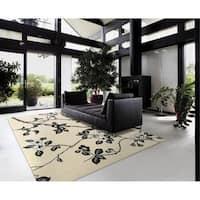 Rug Squared Pomona Black & White Rug - 8' x 11'