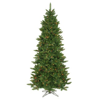"7.5' x 45"" Camdon Fir Slim Tree with 700 Multi-Colored LED Lights"