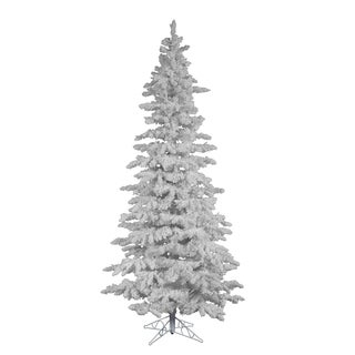 7.5-foot x 43-inch Flocked White Slim Tree with 1019 Tips