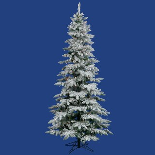 7.5-foot Flocked Utica Fir Tree with 400 Multi-Colored LED Lights
