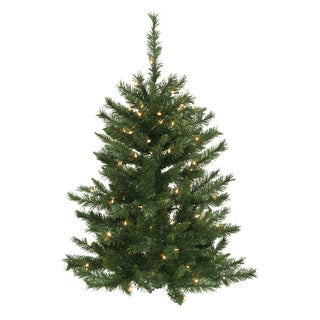 """4' x 32"""" Imperial Pine Tree with 50 Clear Dura-Lit Lights"""