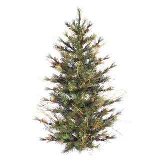 "4' x 40"" Mixed Country Pine Wall Tree with 294 PVC Tips"