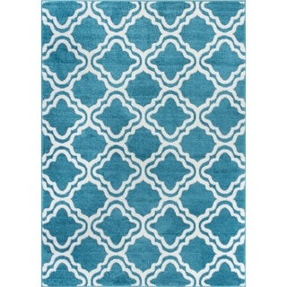 Well Woven Bright Modern Lattice Trellis Geometric Rug (5' x 7')