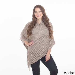 Sequined Design Poncho (Option: Brown/Khaki)