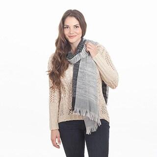 2-Tone Design Striped Shawl