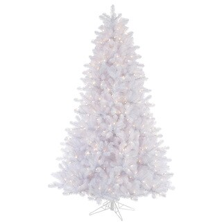 "6.5' x 49"" Crystal White Tree with 550 Clear Dura-Lit Lights"