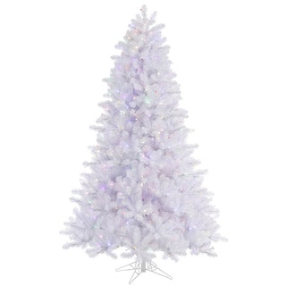 """6.5' x 49"""" Crystal White Pine Tree with 550 Multi-Colored LED Lights"""