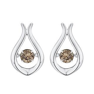 10K White Gold 1/3ct TDW Brown Dancing Diamond Fashion Earrings (Brown)|https://ak1.ostkcdn.com/images/products/10602722/P17675117.jpg?impolicy=medium