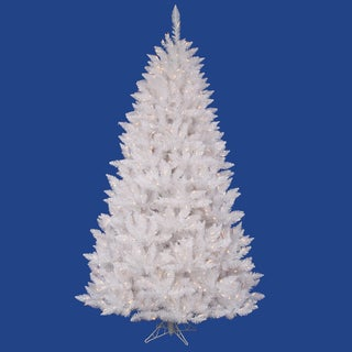 "6.5' x 46"" Sparkle White Spruce Tree with 400 Frosted Pure White LED Lights"