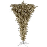 "5.5' x 38"" Champagne Upside Down Tree with 250 Warm White Italian LED Lights"