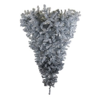 "6' x 61"" Silver Half Upside Down Tree with 879 Tips"