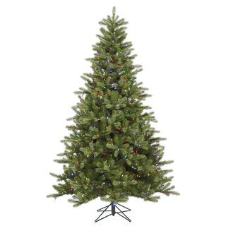 "6.5' x 47"" King Spruce Tree with 350 Multi-Colored LED Lights"