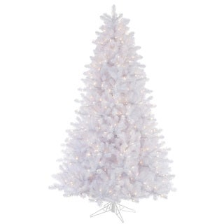 "4.5' x 37"" Crystal White Tree with 300 Clear Dura-Lit Lights"