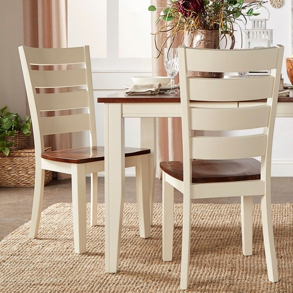 Ordinaire TRIBECCA HOME Eli Rustic Two Tone Ladder Back Dining Chairs ( Set Of 2)