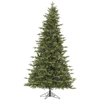 "6.5' x 45"" Fresh Balsam Fir Tree with 450 Multi-Colored LED Lights"