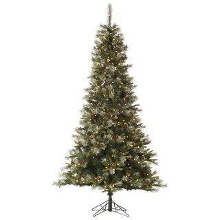 "4.5' x 28"" Iced Sonoma Spruce Tree with 200 Clear Dura-Lit Lights"
