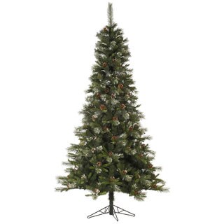 """6' x 36"""" Iced Sonoma Spruce Tree with 593 Tips"""