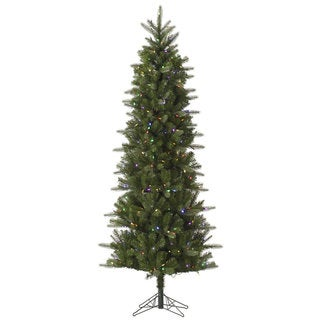 "6.5' x 34"" Carolina Pencil Spruce Tree with 350 Multi-Colored LED Lights"