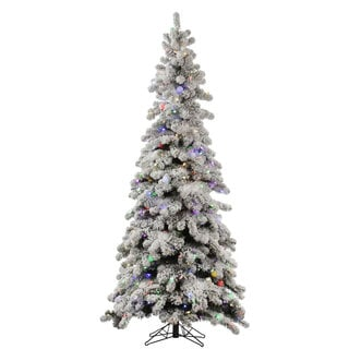"5' x 31"" Flocked Kodiak Spruce Tree with 285 Multi-Colored Lights and 35G40 LED Lights"