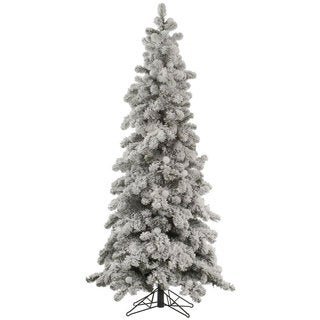 "6' x 36"" Flocked Kodiak Spruce Tree with 899 Tips"