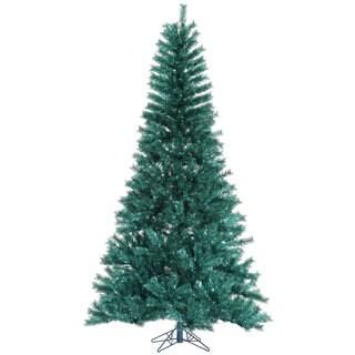 "6.5' x 42"" Aqua Tinsel Tree with 681 Tips"