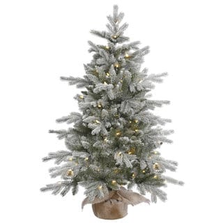 48 x 32 frost sable pine tree with 100 warm white italian - Best Christmas Tree Deals