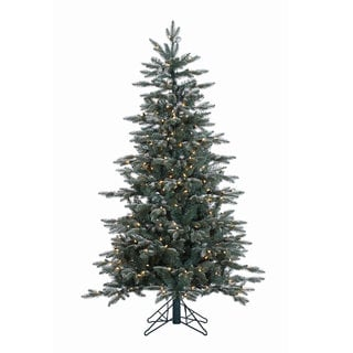 "5' x 38"" Crystal Balsam Fir Tree with 300 Clear Dura-Lit Lights"