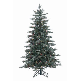 5-foot x 38-inch Crystal Balsam Fir Tree with 300 Multi-colored Dura-Lit Lights
