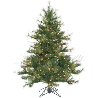 """4.5' x 40"""" Mixed Country Pine Tree with 250 Clear Dura-Lit Lights"""