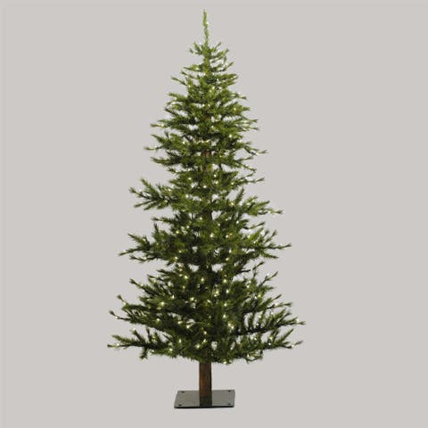 "6' x 33"" Minnesota Pine Half Tree with 436 PVC Tips"
