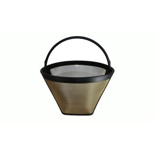 Cuisinart-compatible #4 Cone Gold Tone Washable Coffee Filter