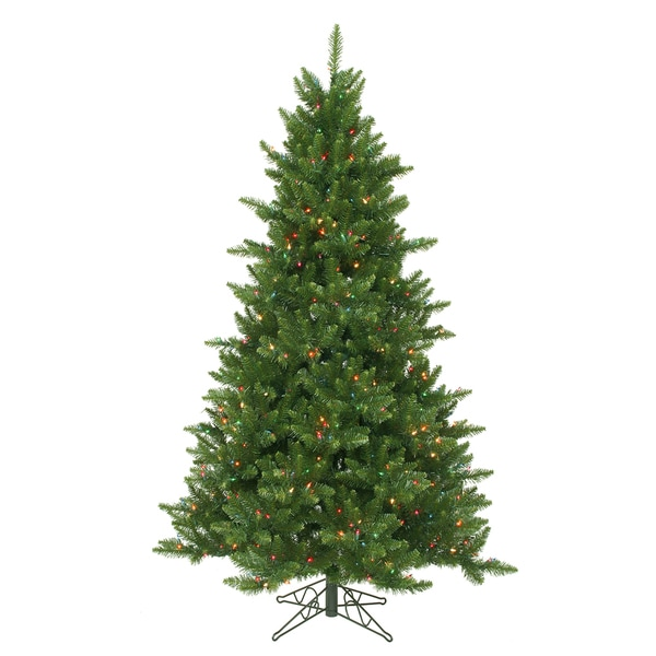"""4.5' x 37"""" Camdon Fir Tree with 300 Multi-Colored LED Lights"""