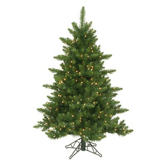 "4.5' x 37"" Camdon Fir Tree with 300 Warm White LED Lights"