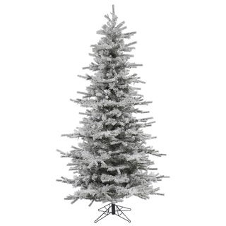 "4.5' x 38"" Flocked Slim Sierra Tree with 409 Tips"