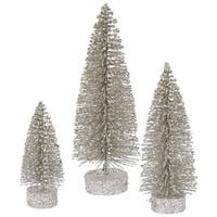 "5""-7""-9"" Champagne Glitter Oval Tree Set"