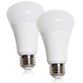 Maxxima Dimmable A19 LED Light Bulb 800 Lumens 10 Watts Warm White (2 Pack)