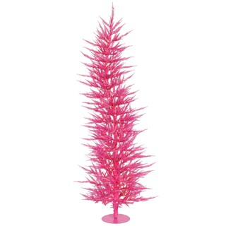 """5' x 24"""" Pink Laser Tree with 100 Pink Mini Lights and 889 PVC Tips"""