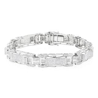 Luxurman 10k Gold 3 1/4ct TDW Diamond Bracelet (H-I, SI1-SI2)