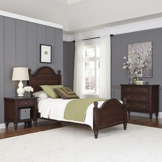 Country Comfort Twin Bed, Night Stand, and Chest by Home Styles