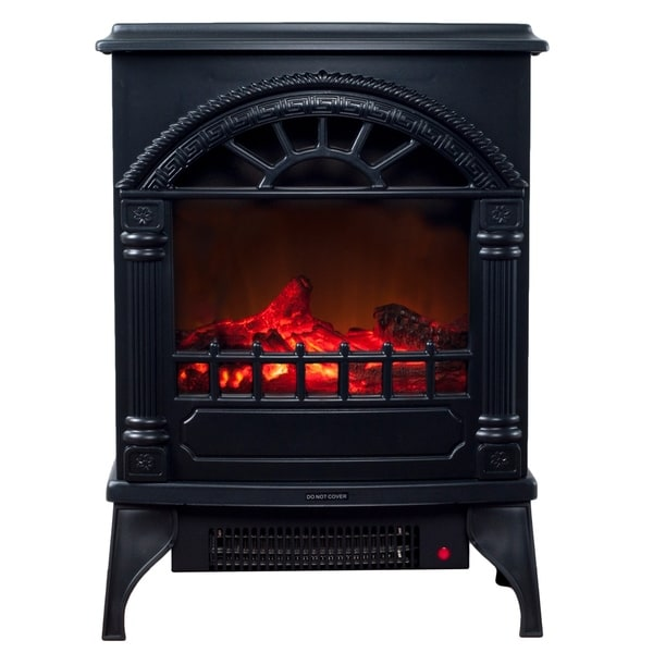 shop electric fireplace indoor freestanding space heater with faux log and flame effect by. Black Bedroom Furniture Sets. Home Design Ideas