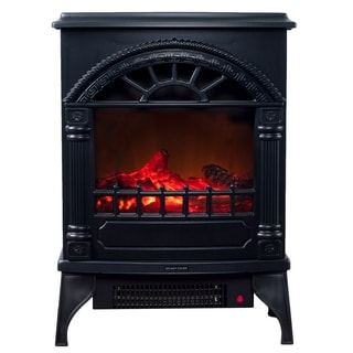 Electric Fireplace-Indoor Freestanding Space Heater with Faux Log and Flame Effect by Northwest