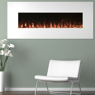 Electric Fireplace Wall Mounted, Color Changing LED Flame & Remote, 50 Inch, By Northwest - N/A