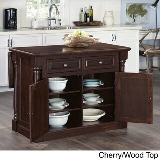 Home Styles Monarch Kitchen Island and Two Stools