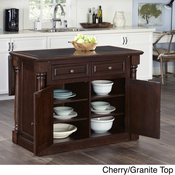 Monarch Kitchen Island and Two Stools by Home Styles - Free ...