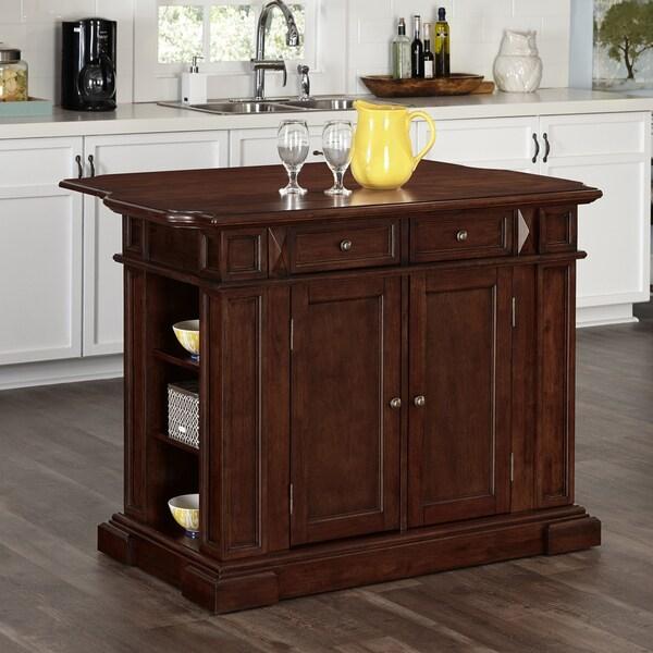 Home Styles Americana Cherry Kitchen Island  17675639  Overstock com