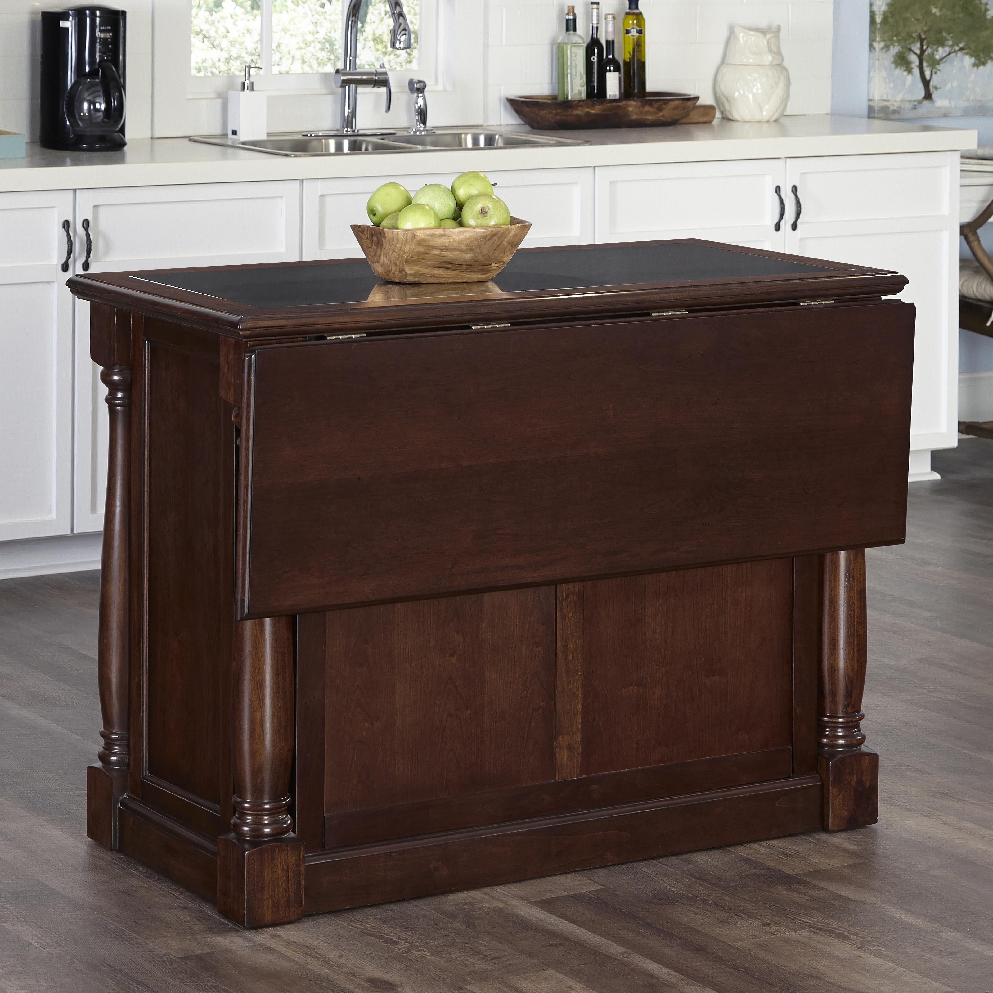 Home Styles Monarch Kitchen Island (Oak w/ Granite Top), ...